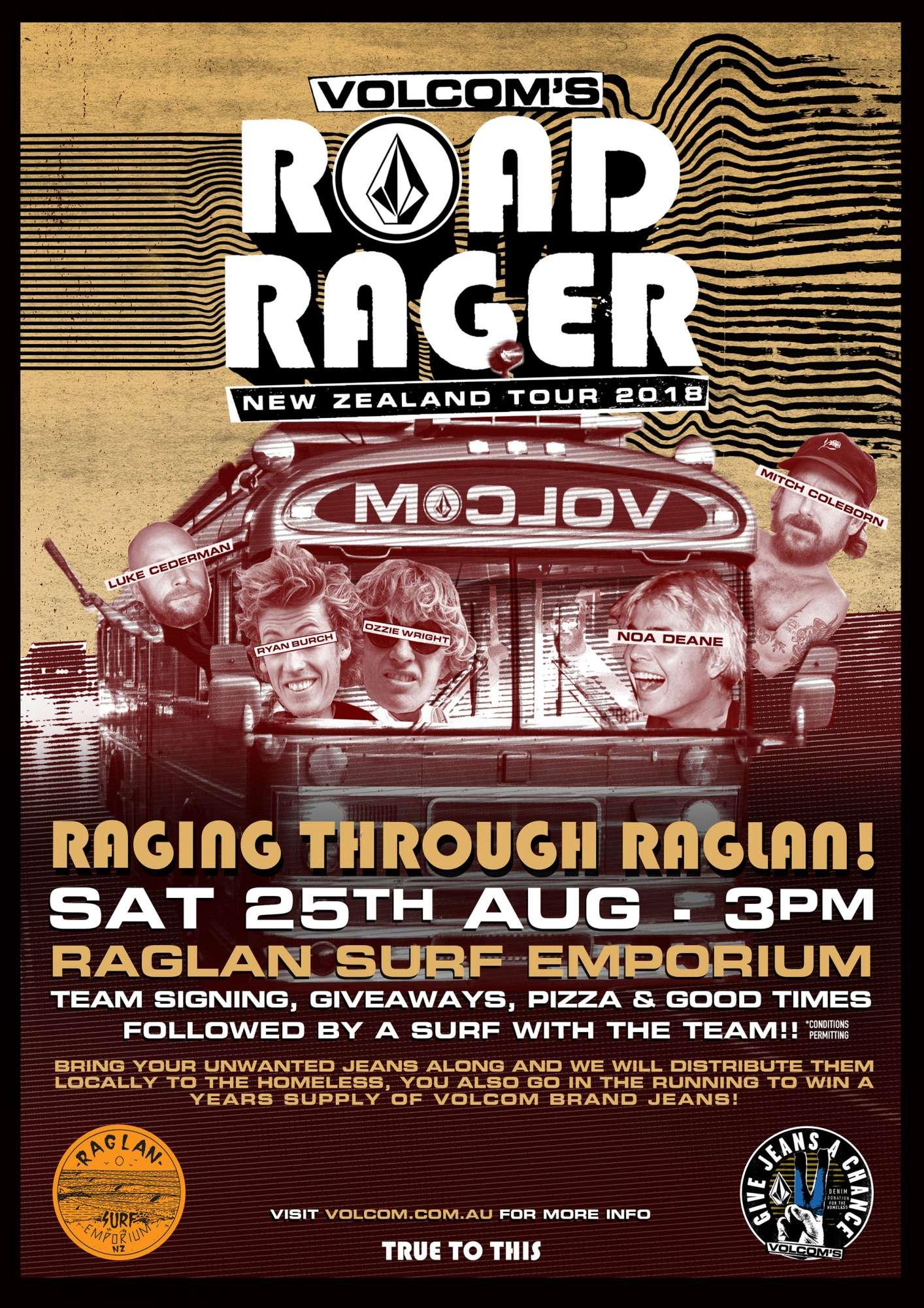 Volcom Road Rager Raglan Demo