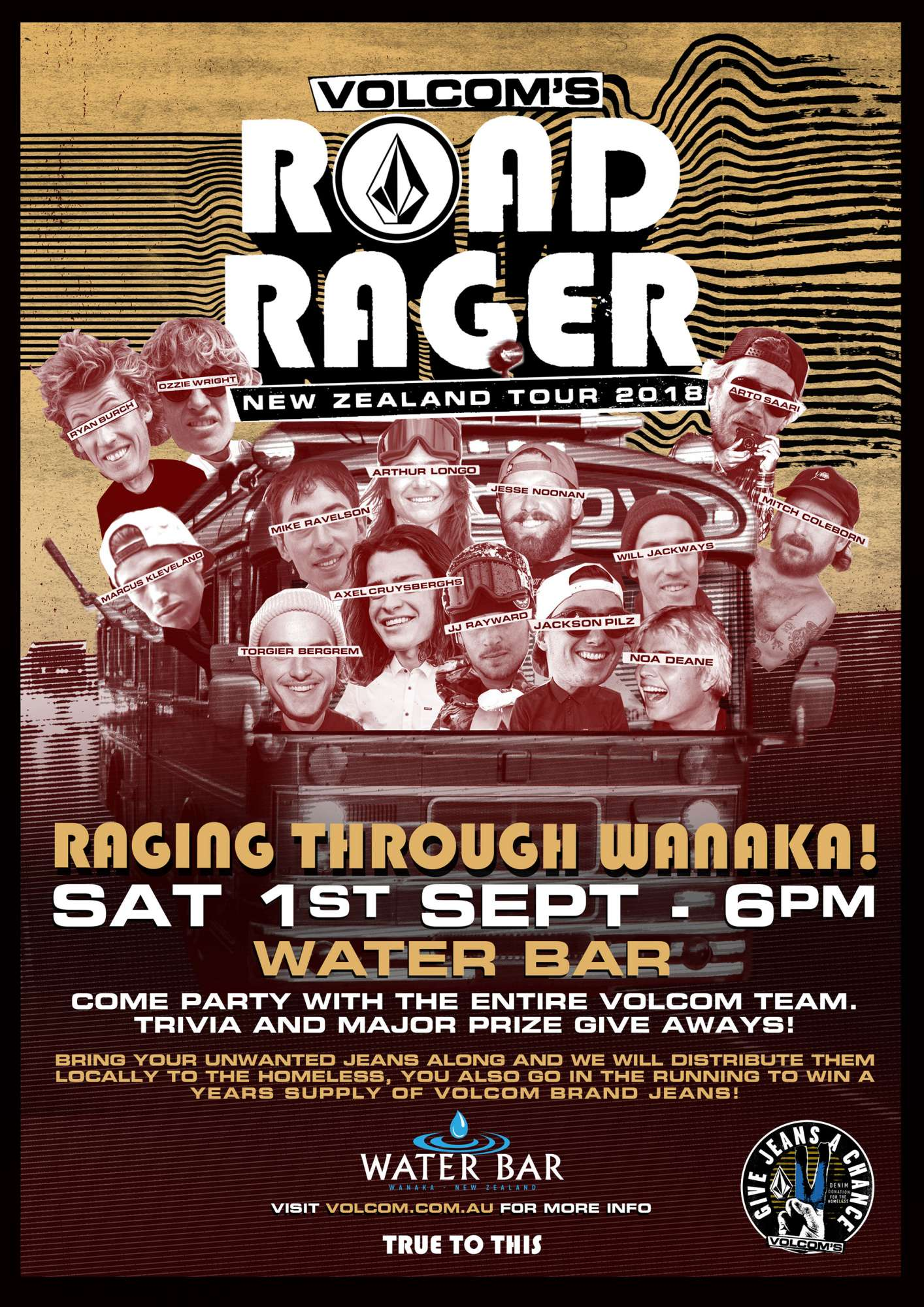 Volcom Road Rager Wanaka Trivia Night
