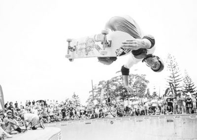 Andrew Morrison, backside nose grab.