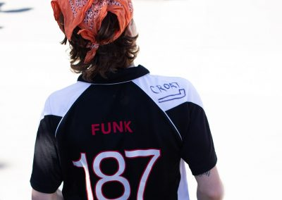 T Funk in uniform.