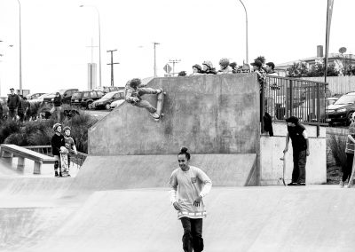 Mike Bancroft, wallride to fakie.