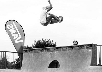 Maninja, alley oop frontside over the channel!