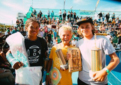 16 & Under Winners: Remus Henare (3rd), Zeydn Fellows (2nd), and Niwa Shewry (1st, NZ Champion).