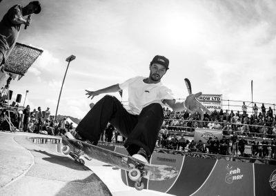 Bowman Hansen, frontside grind, Photo by David Read