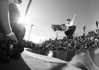 Bowman Hansen, frontside stalefish, Photo by Jake Hood