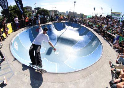 Bowman Hansen, frontside feeble grind, Photo by Matt Markland